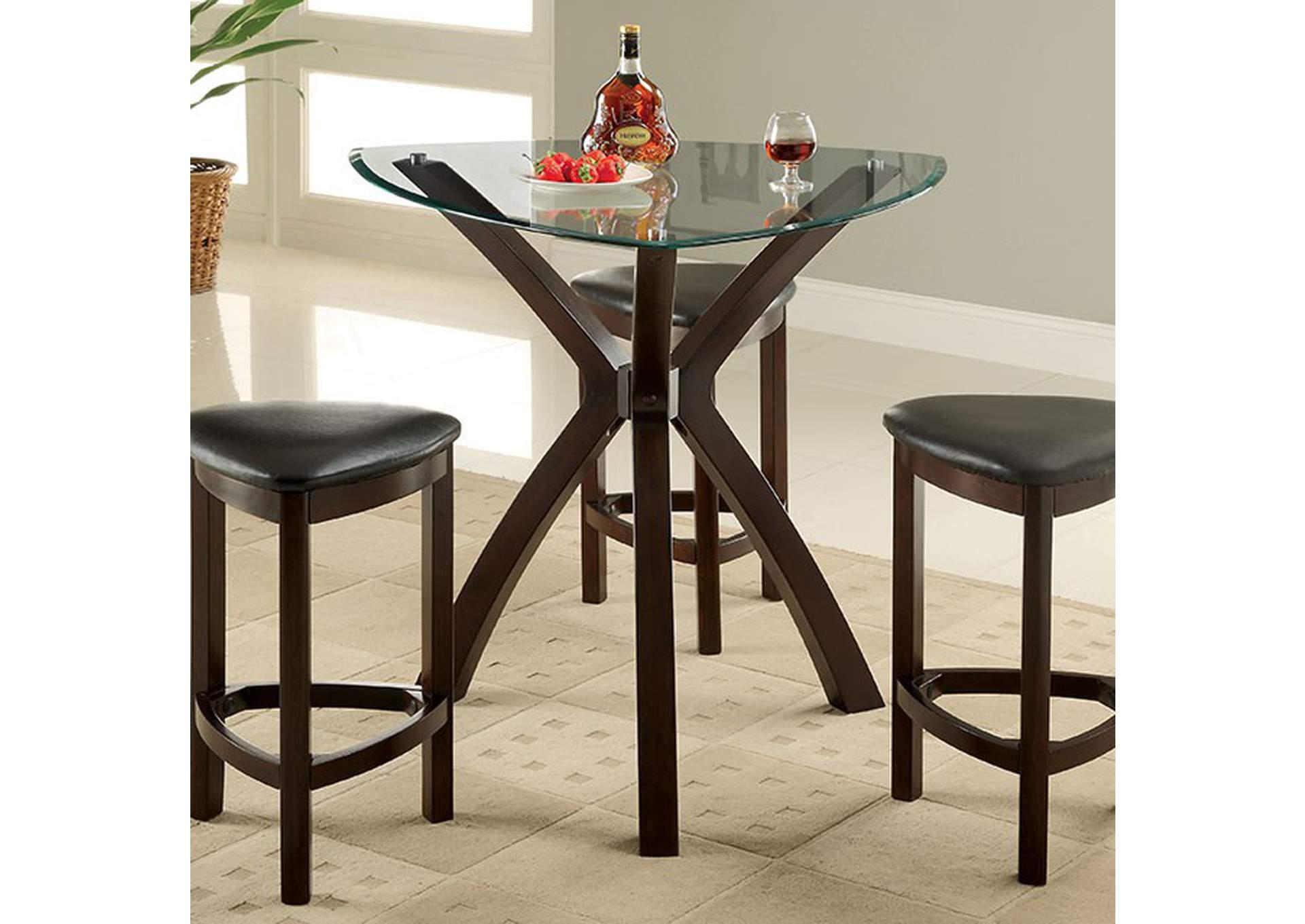 Xanti 4 Piece Triangle Counter Table Set Sweet Home Furniture By Niposul