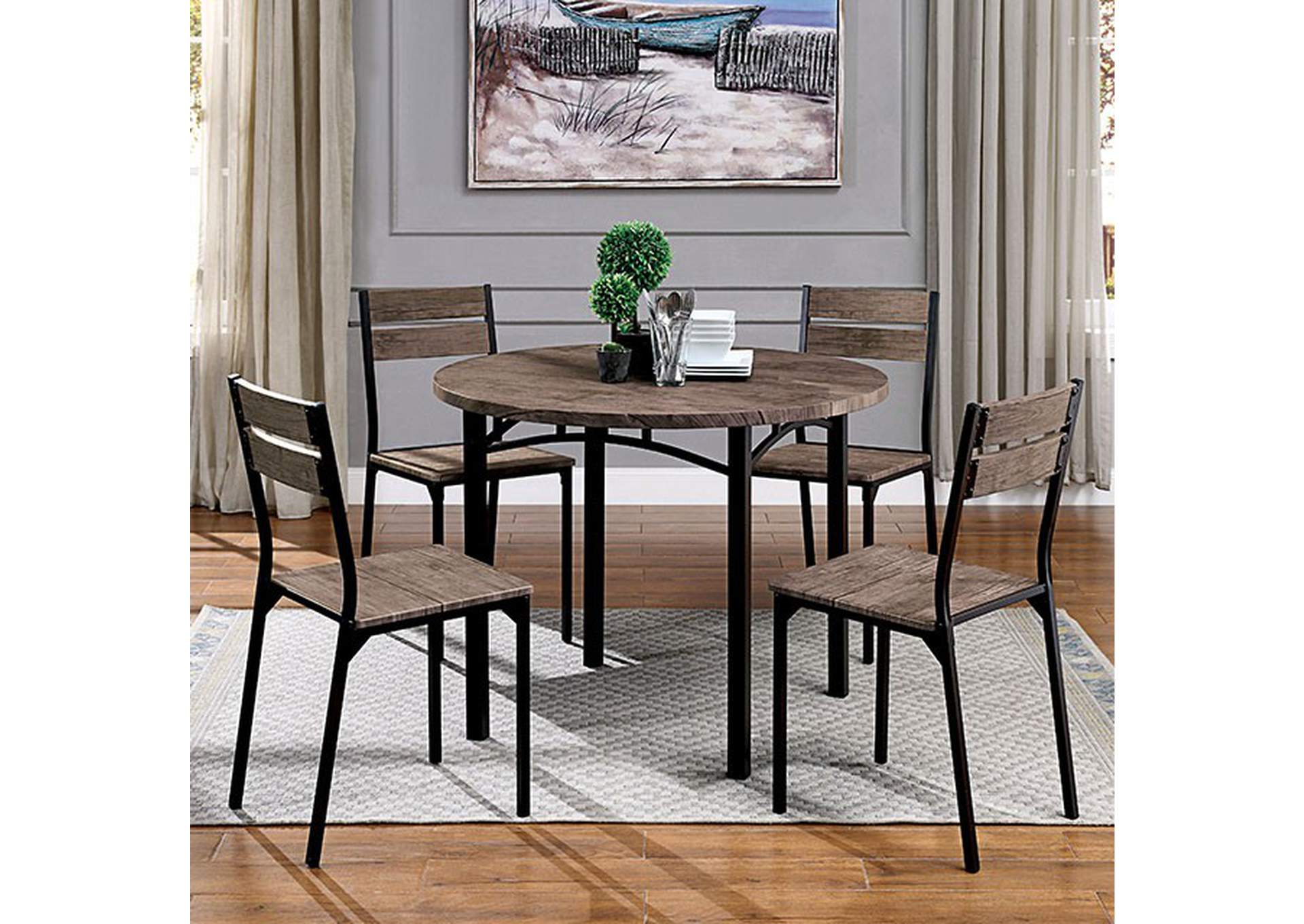 Meade Round Dining Table,Furniture of America