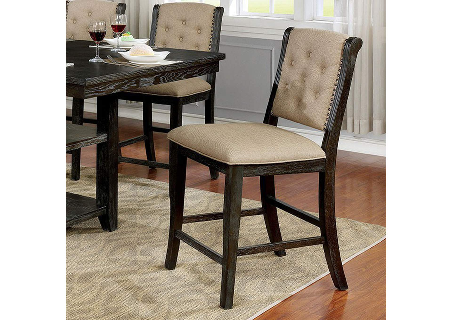Patience Counter Height Side Chair (Set of 2),Furniture of America