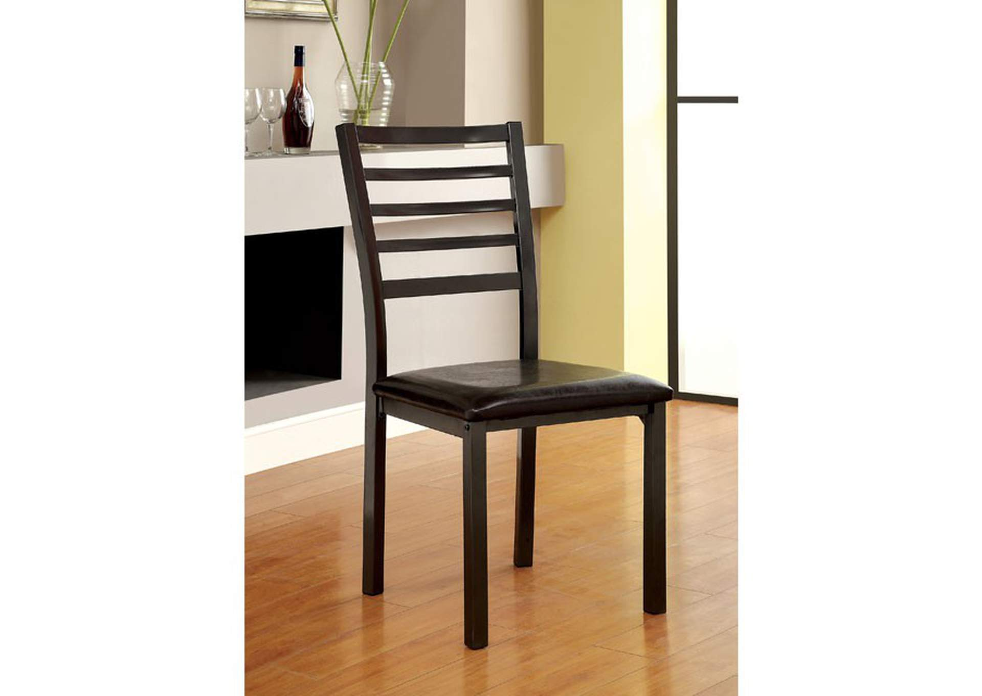 Colman Black Side Chair (Set of 2),Furniture of America