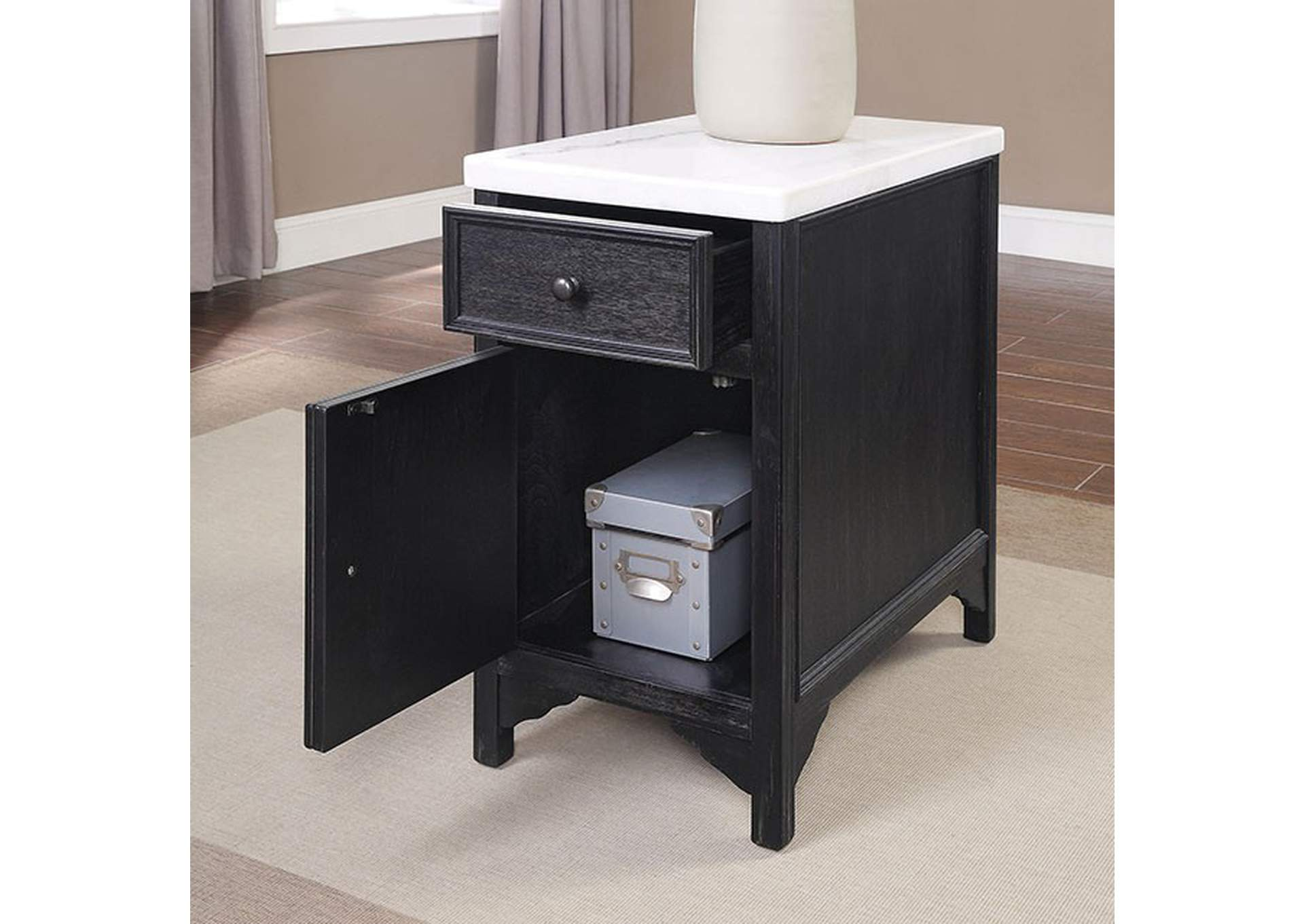 Mcgill Black Side Table,Furniture of America