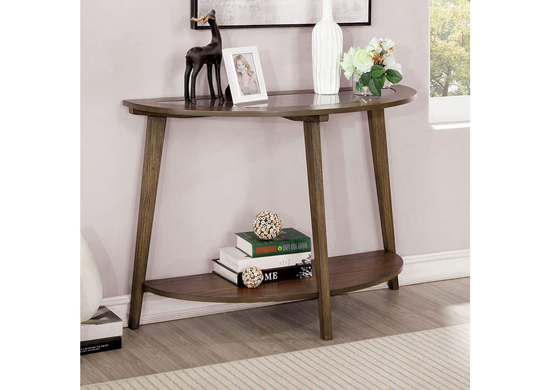 Uriel Brown Sofa Table,Furniture of America