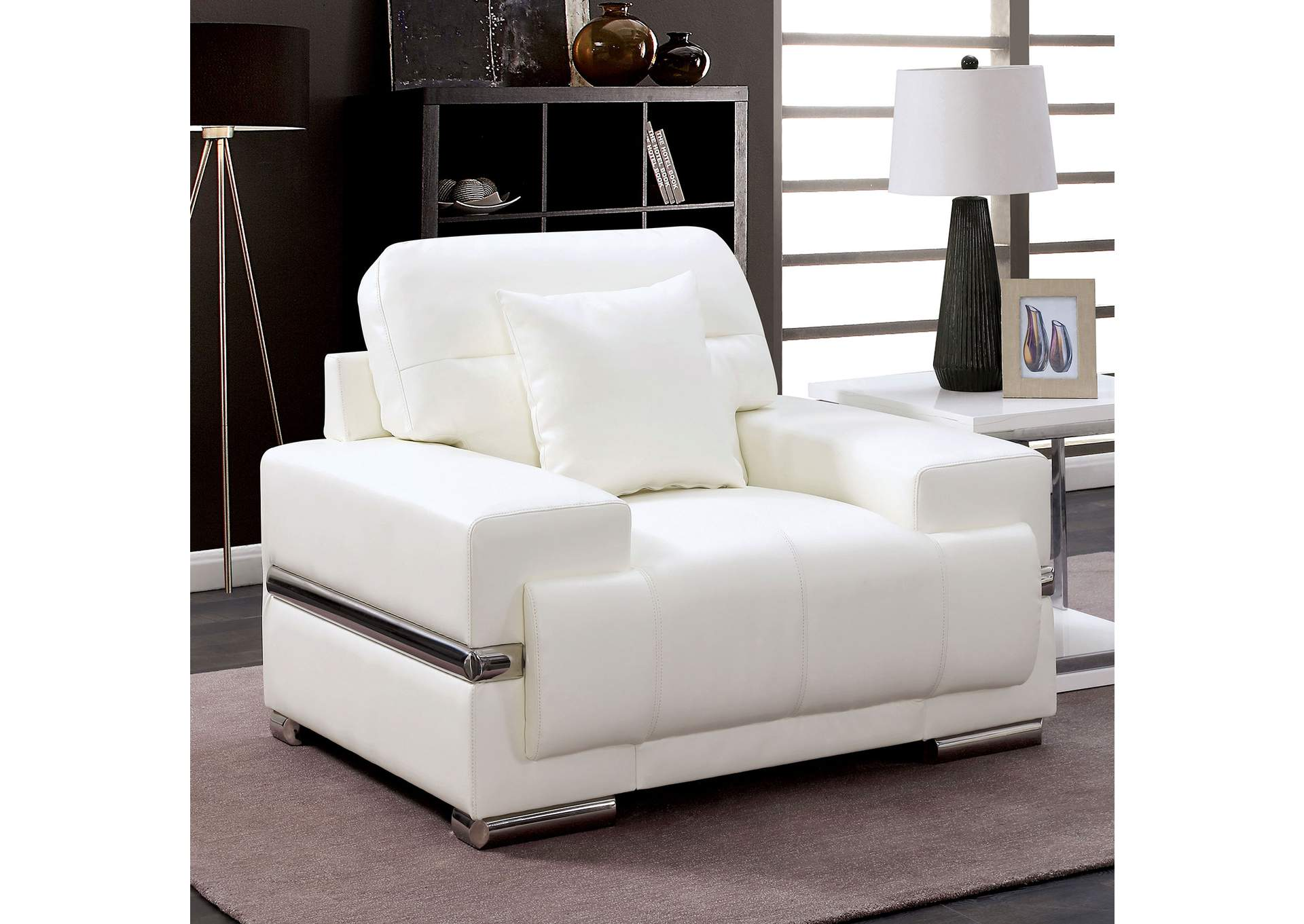 Furniture 4 A Lot Less Zibak White Chair