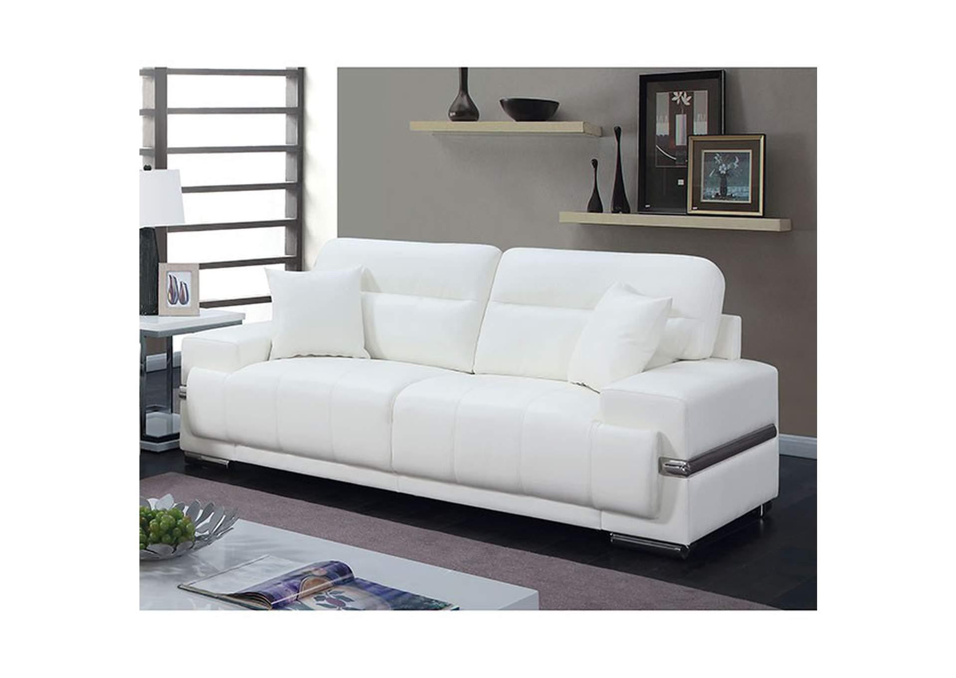 Sleep Boutique Mattress Furniture Zibak White Sofa