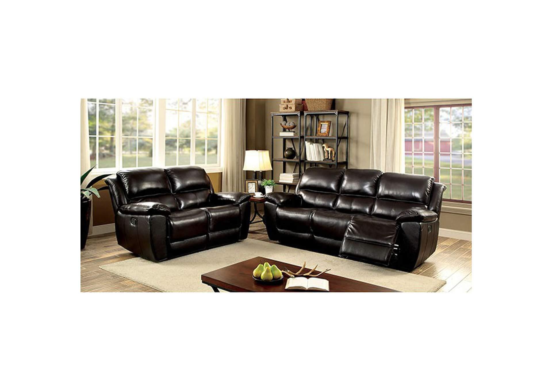 Dimensional Furniture Outlet Keara Dark Brown Sofa And Loveseat W 4