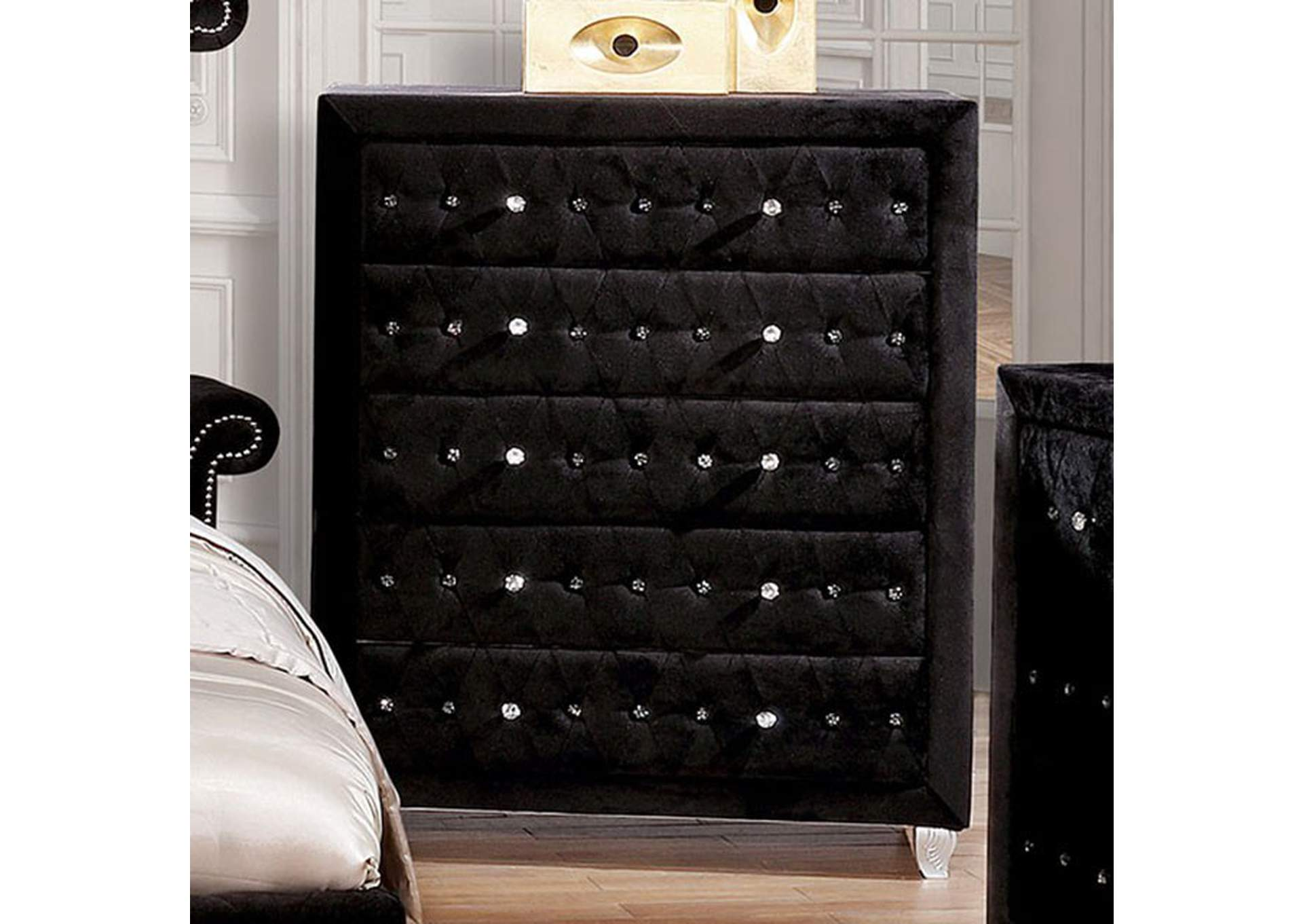 Alzire Black Chest,Furniture of America
