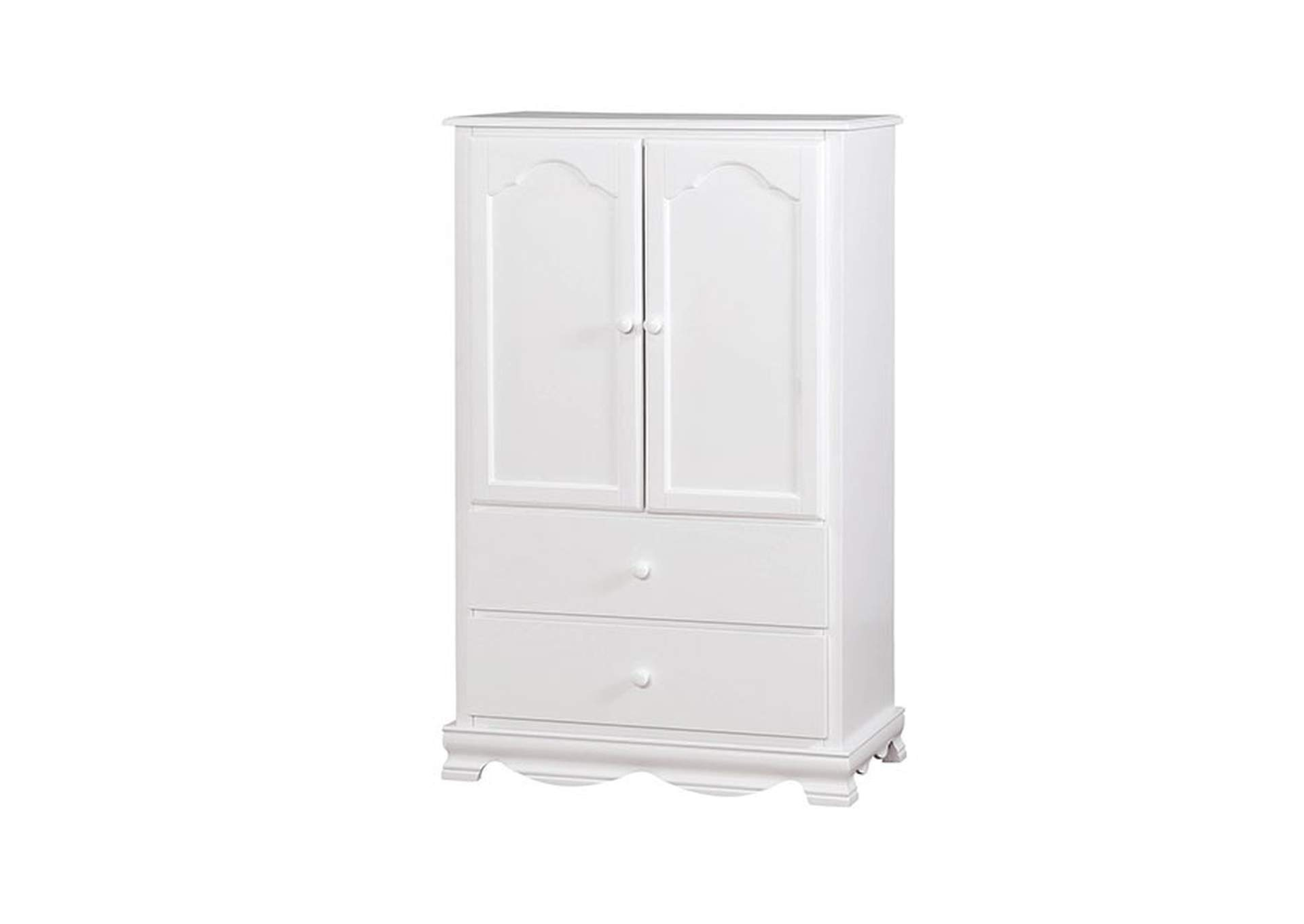 Dani White Armoire,Furniture of America