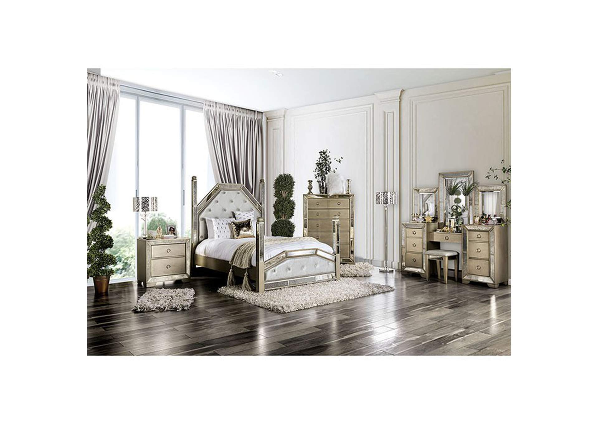 Loraine California King Bed,Furniture of America