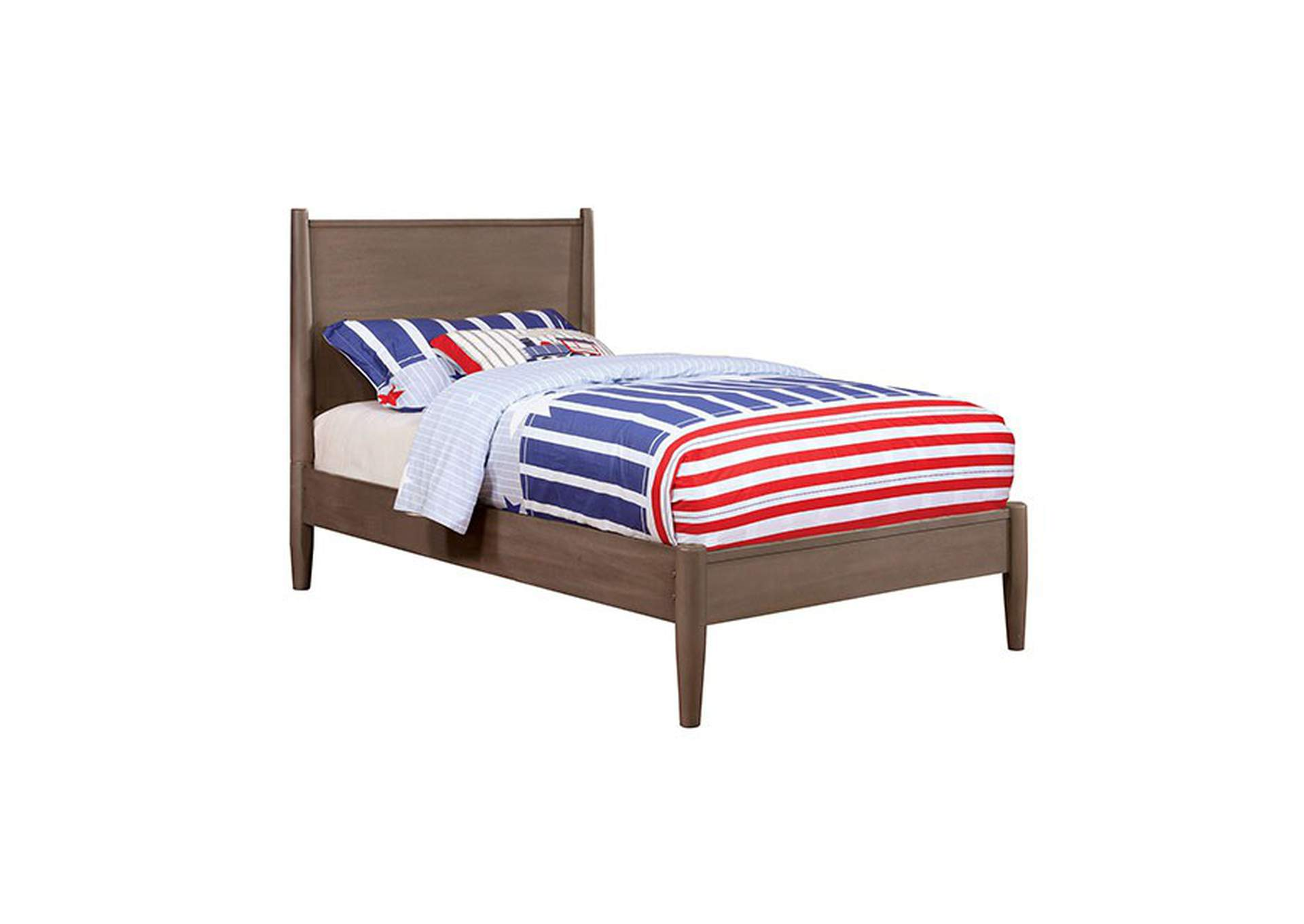 Lennart Gray Queen Platform Bed,Furniture of America