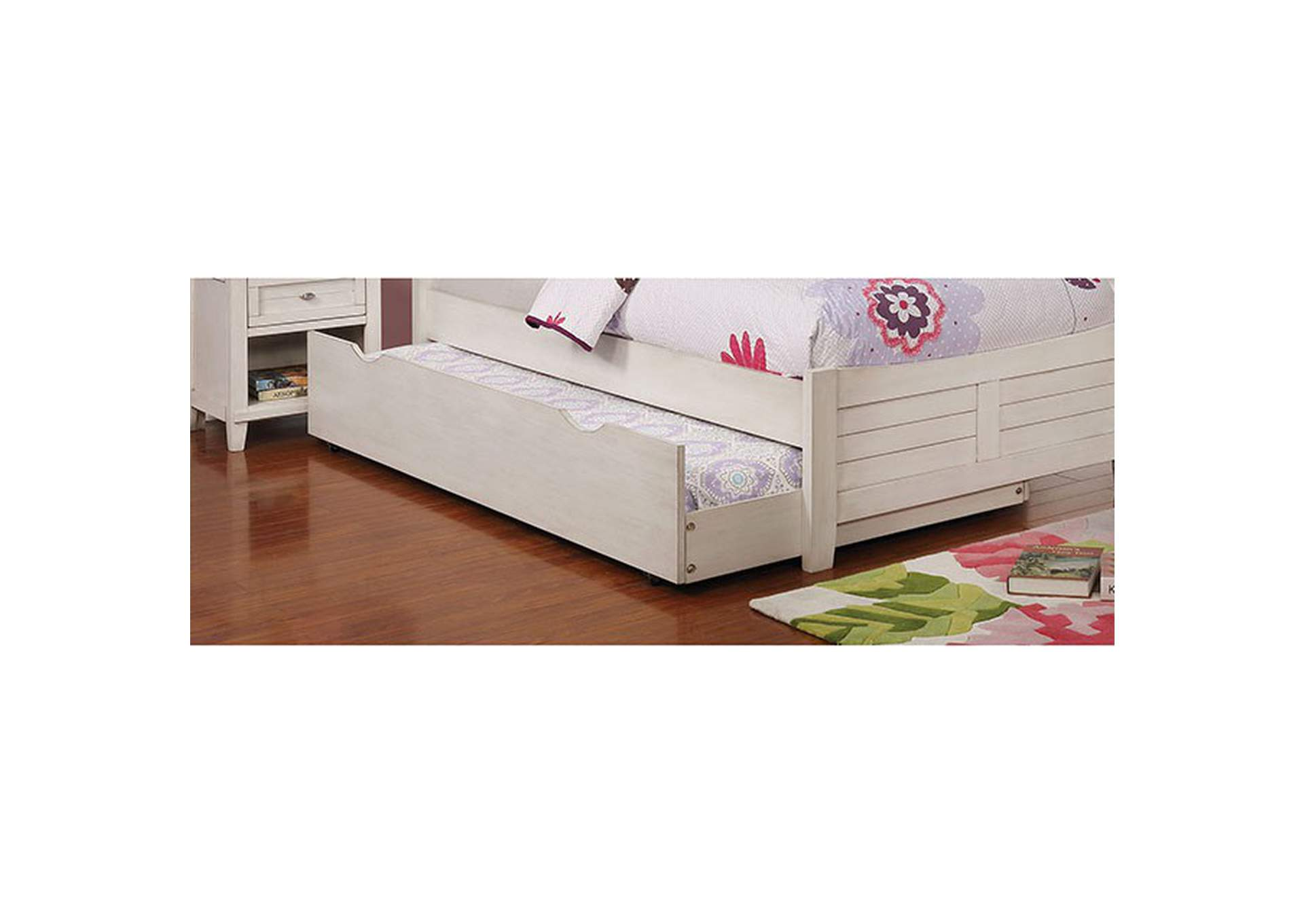 Brogan White Storage Full Bed,Furniture of America