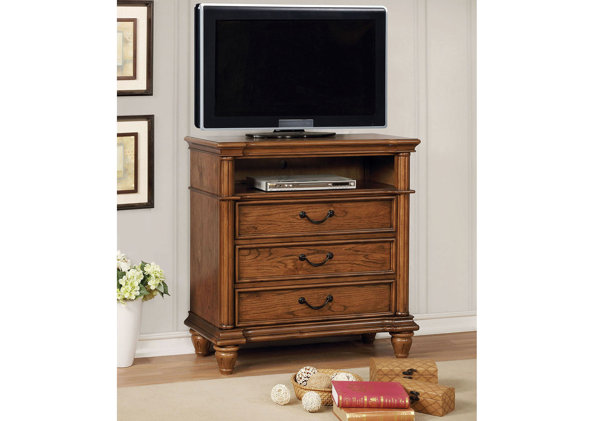 Mantador Brown Media Chest,Furniture of America