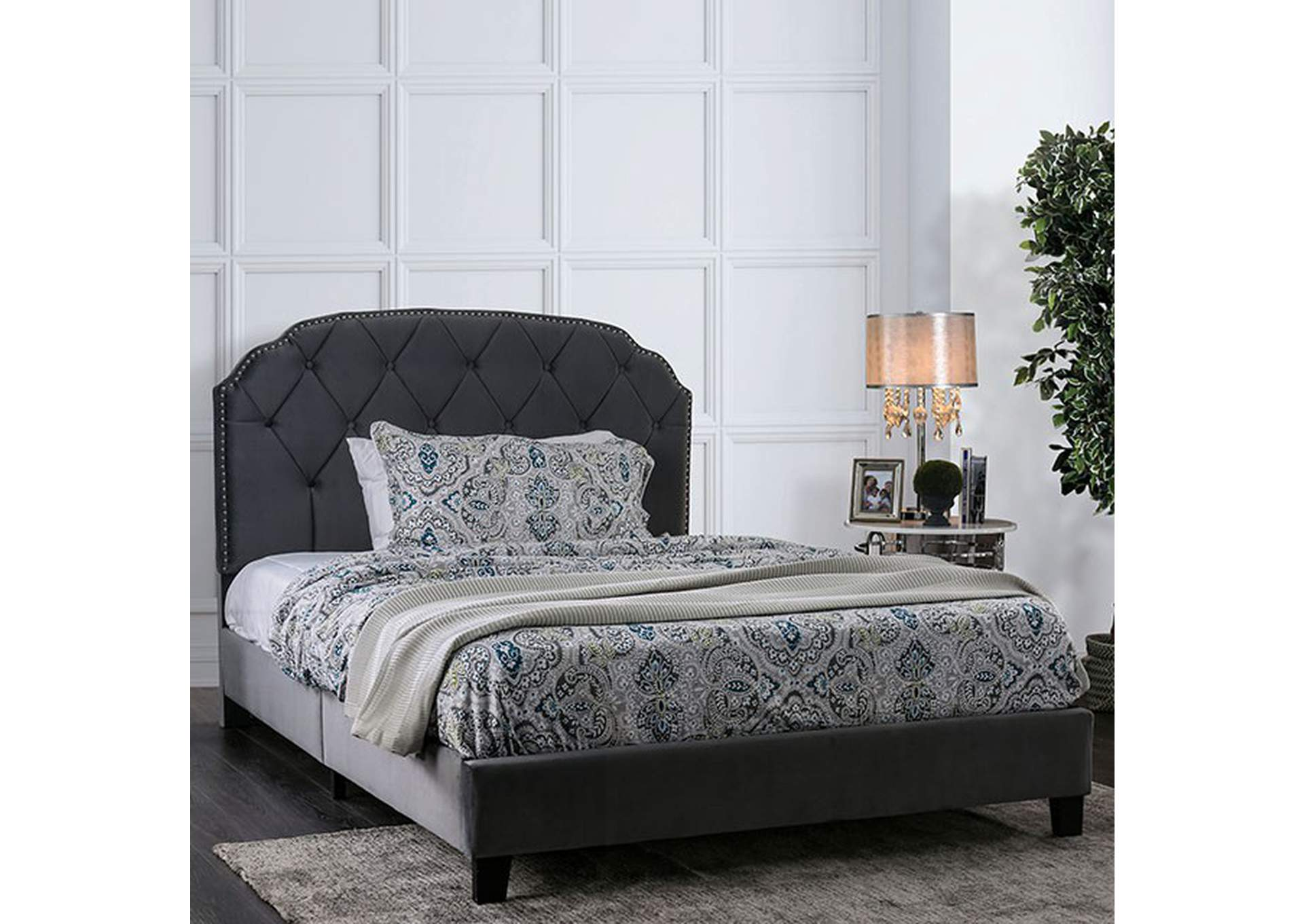Osnabrock Upholstered Twin Platform Bed,Furniture of America