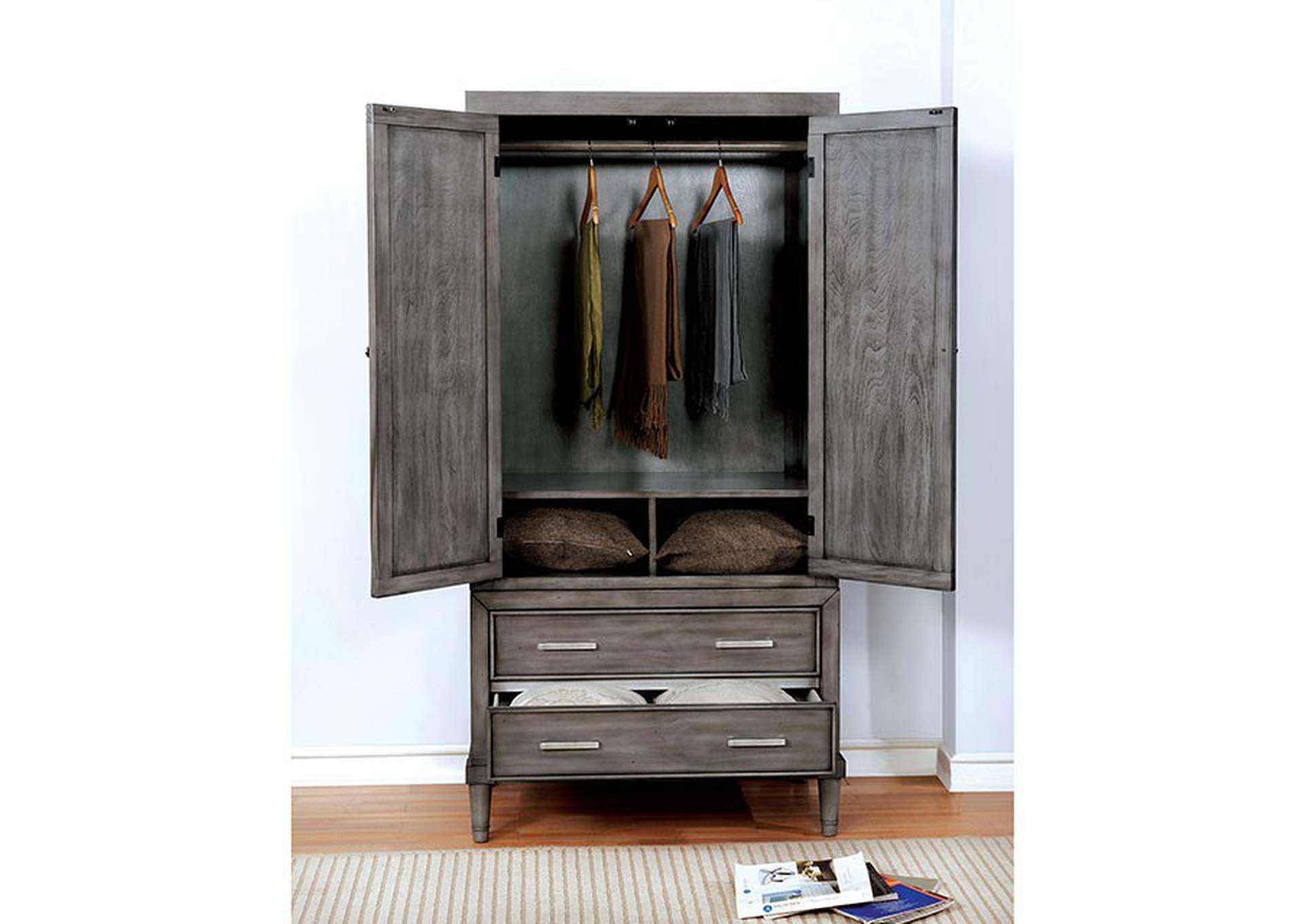 Daphne Gray Armoire,Furniture of America