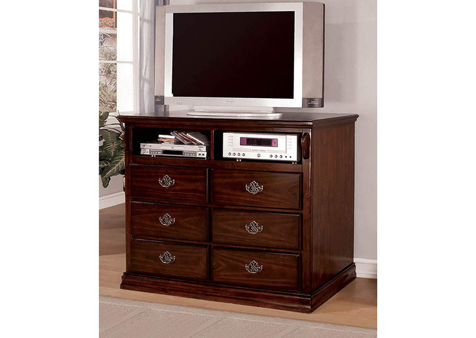 Tuscan II Dark Pine Media Chest,Furniture of America