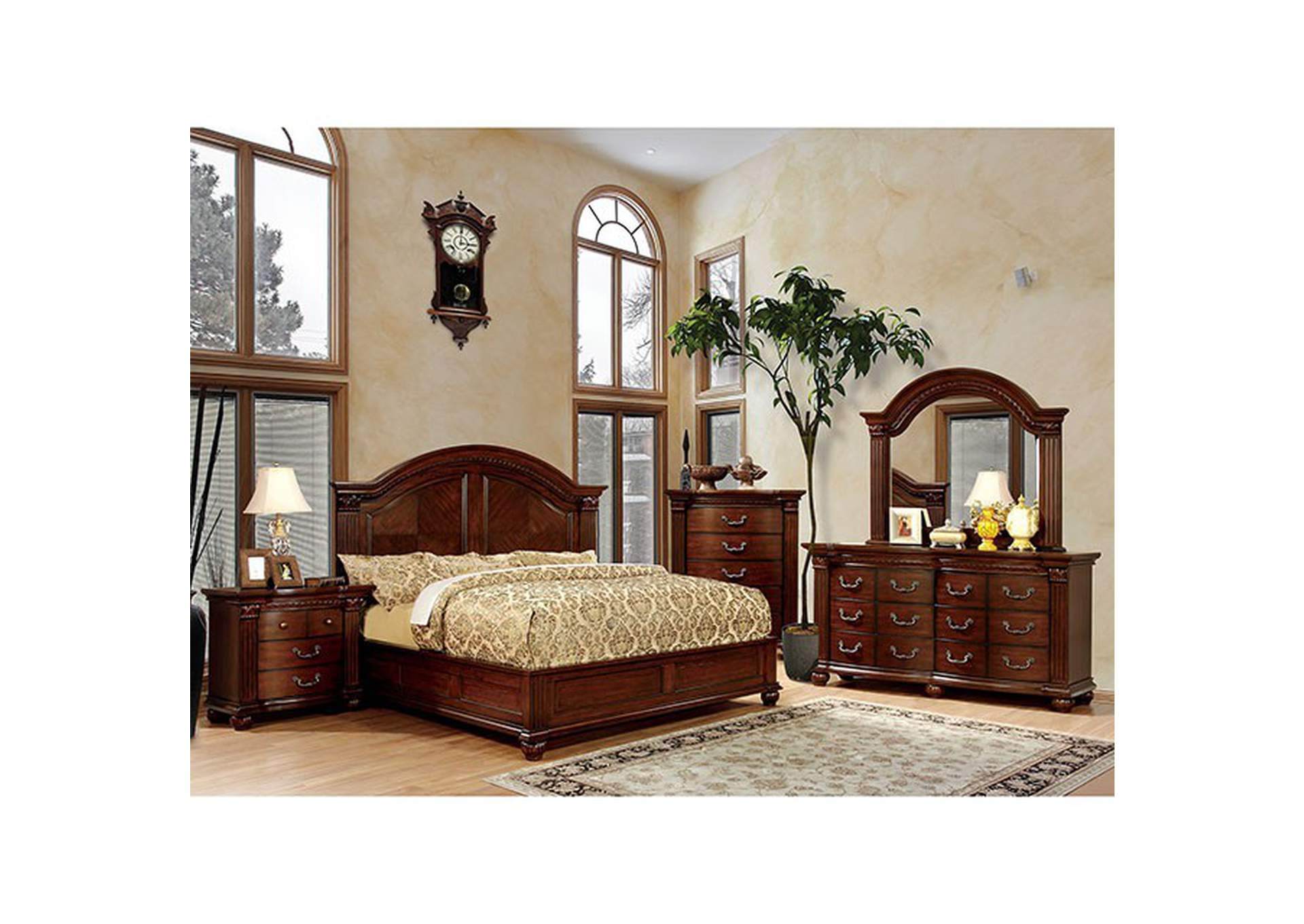 Grandom Cherry Queen Platform Bed,Furniture of America