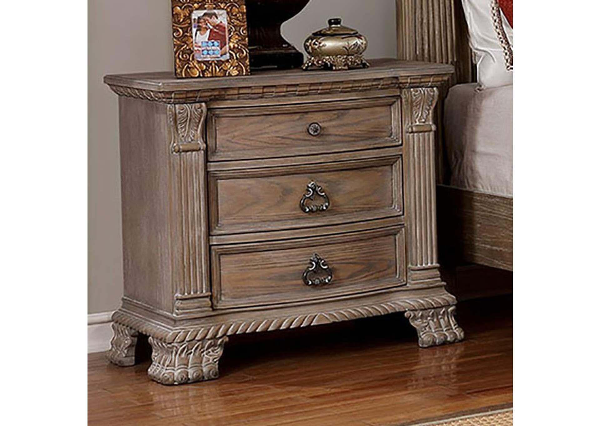 Montgomery Rustic Natural Nightstand,Furniture of America