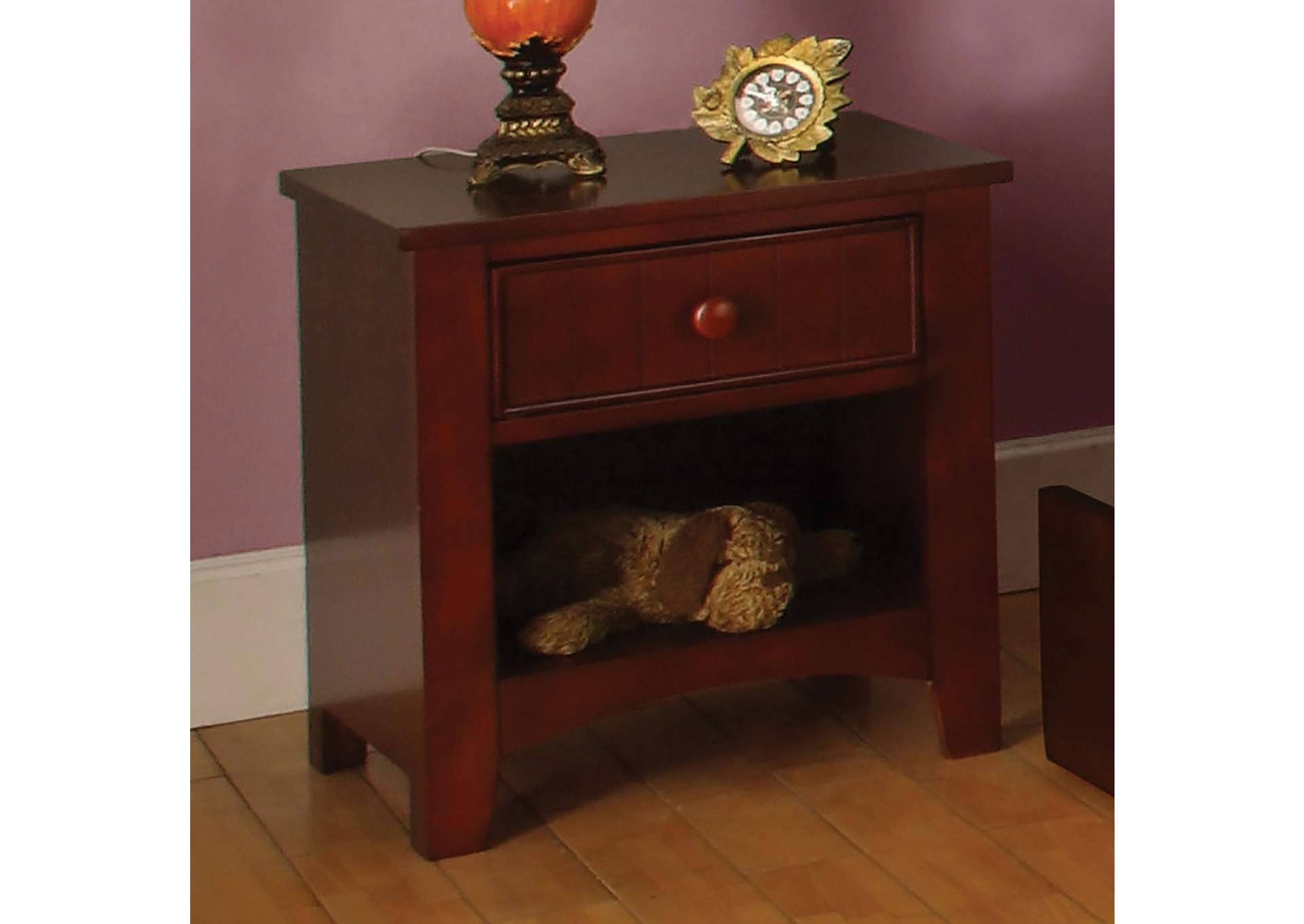 Omnus Cherry Nightstand,Furniture of America