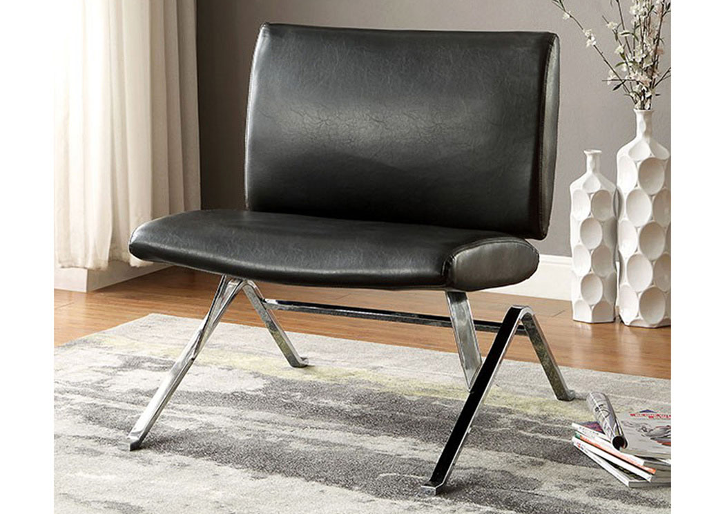 Shana Black Accent Chair,Furniture of America