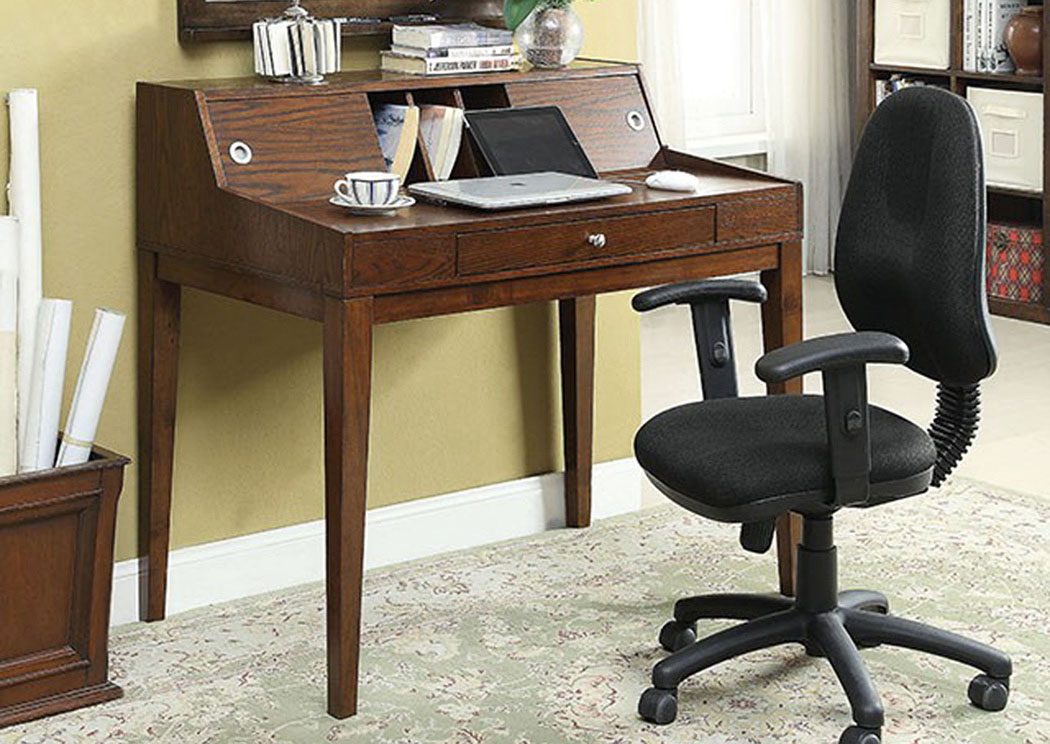 Veda Cherry Desk w/Pull-Out-Tray,Furniture of America