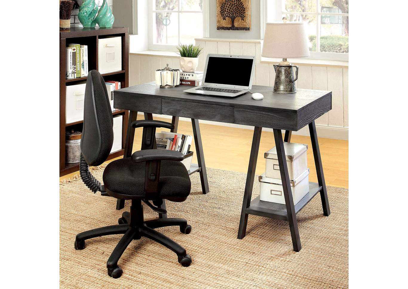 Surrey Gray Desk w/Drawer,Furniture of America
