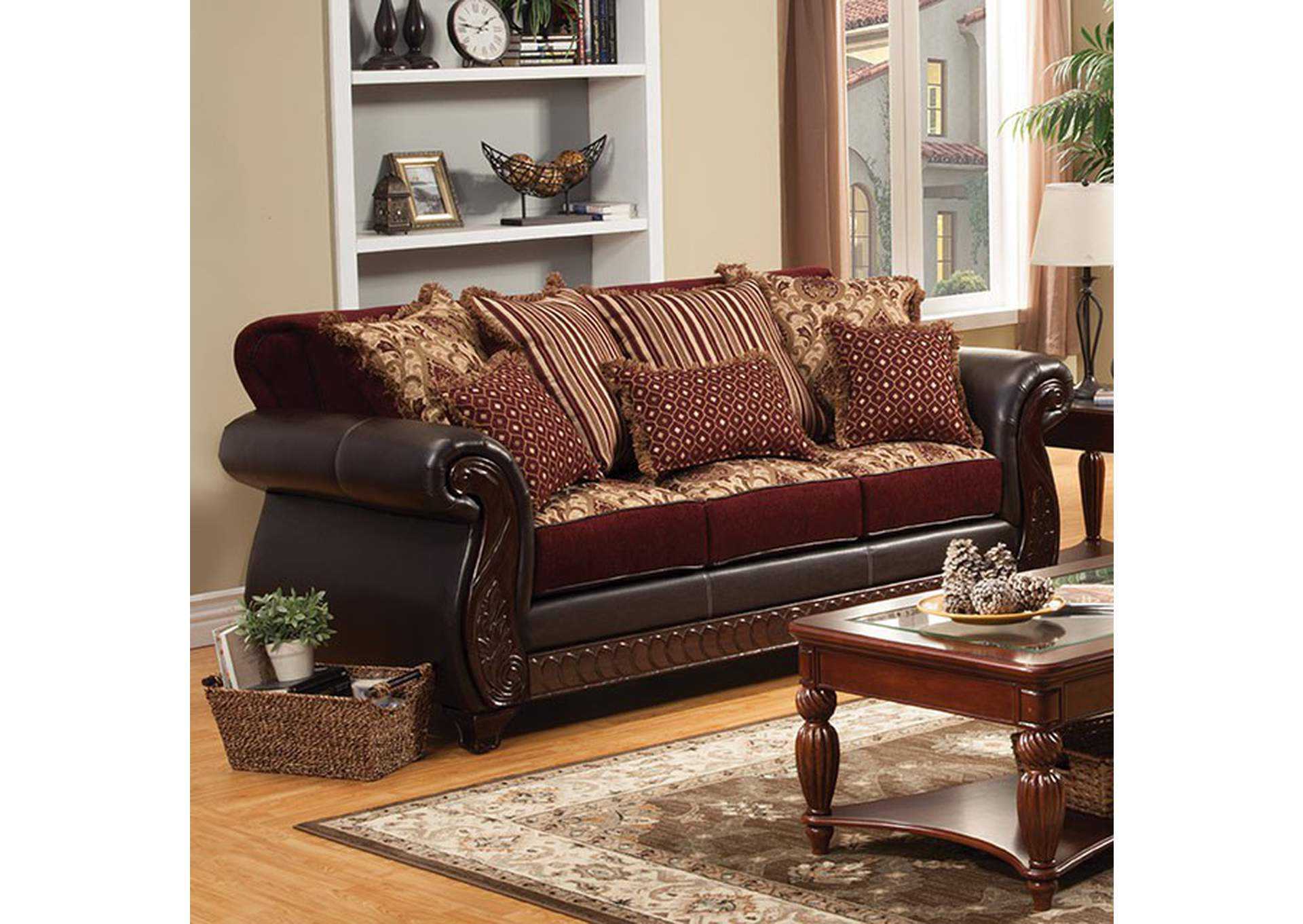 Sans Midman Furniture Franklin Dark Brown Sofa