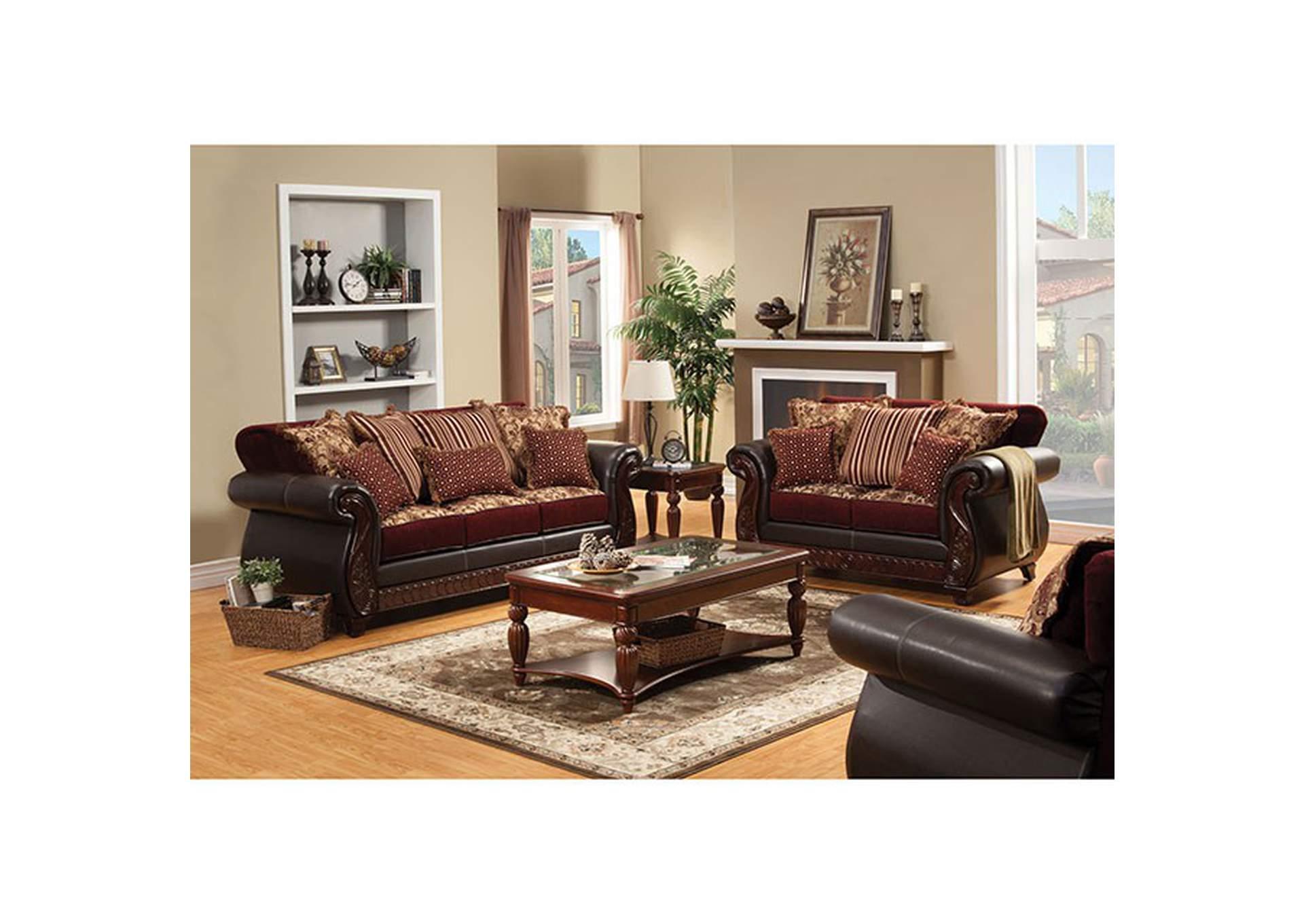 5th Avenue Furniture Mi Franklin Dark Brown Sofa And Loveseat