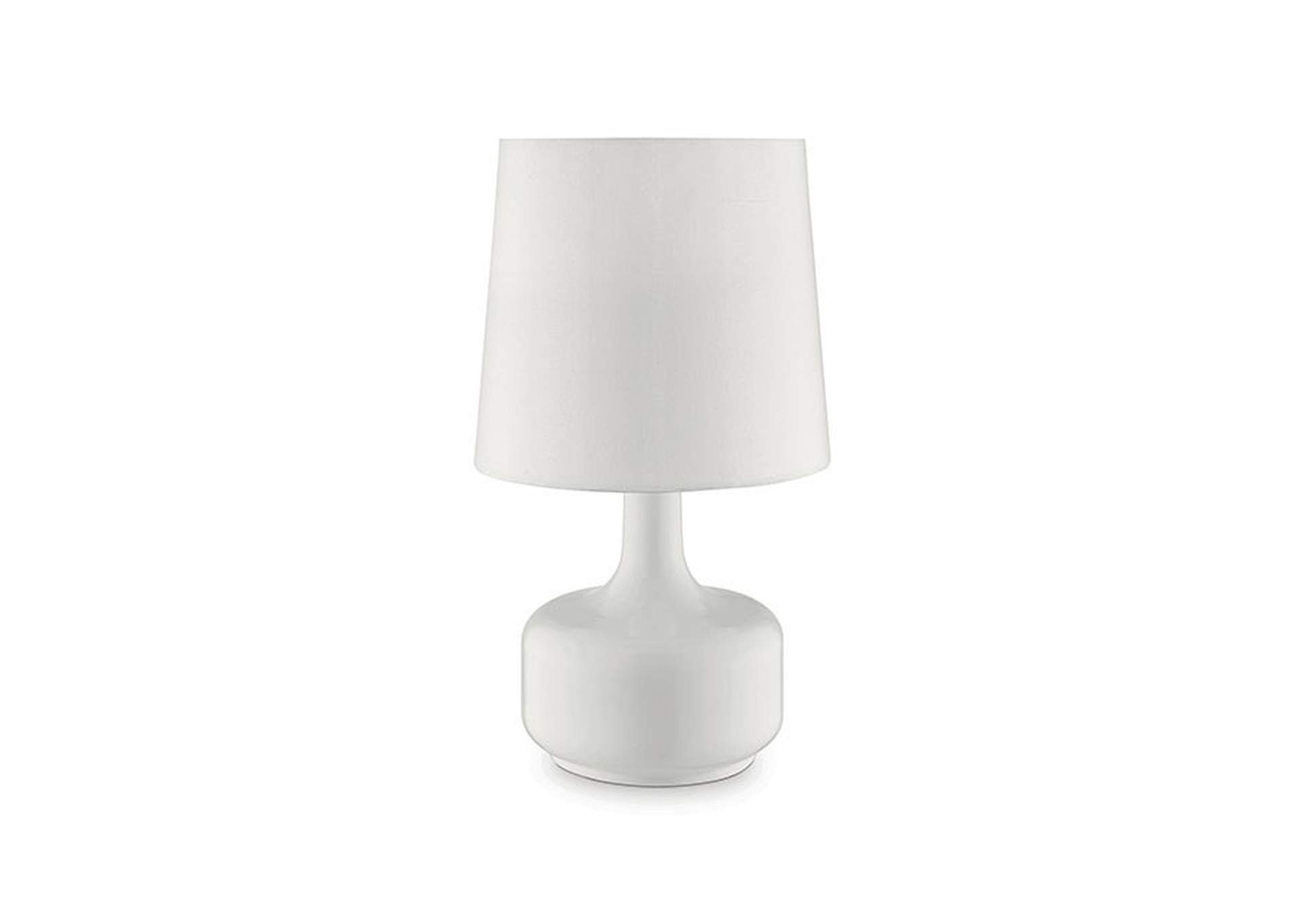 Farah White Table Lamp,Furniture of America