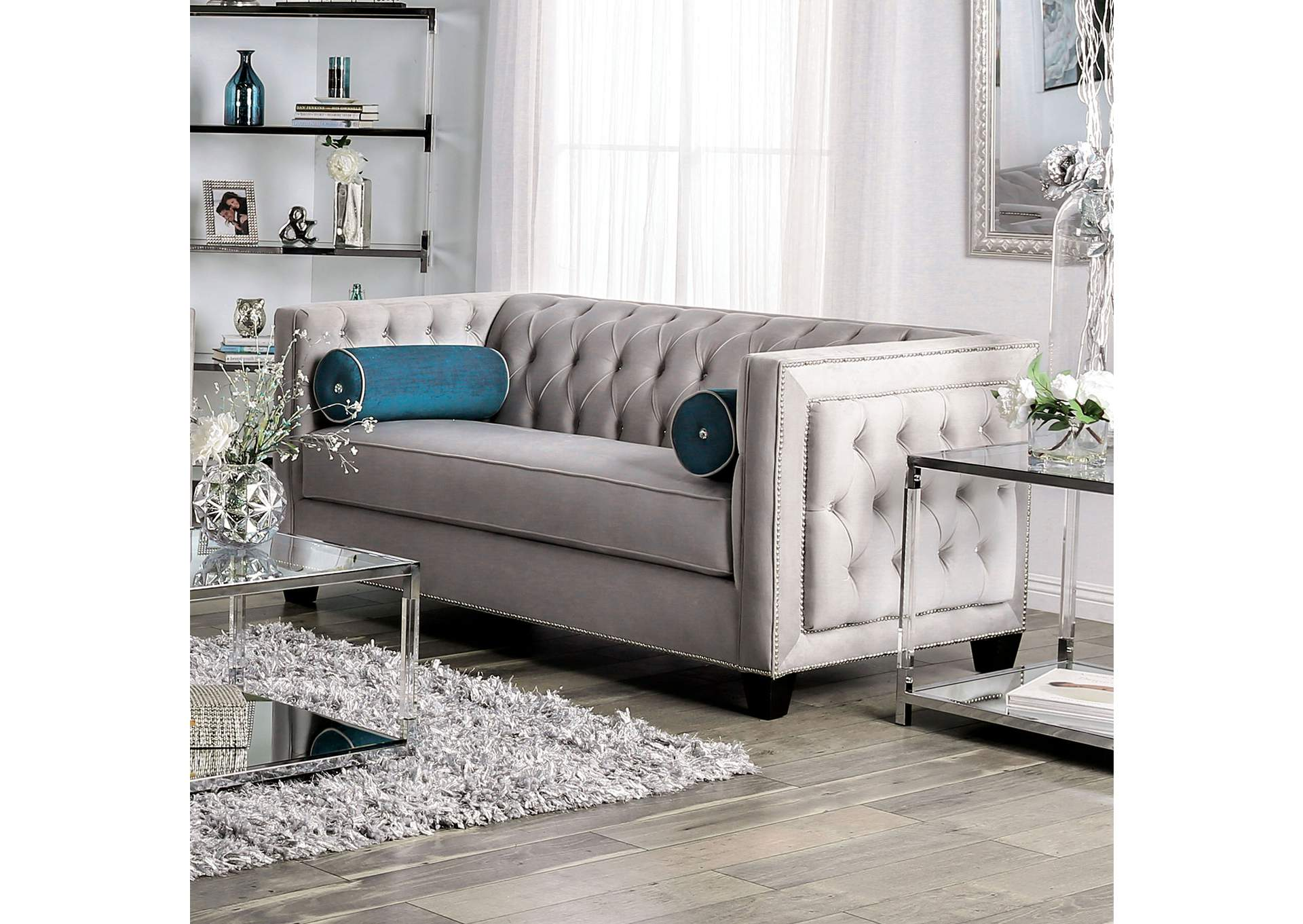 Terrific Direct Deal Furniture Silvan Gray Loveseat Gamerscity Chair Design For Home Gamerscityorg