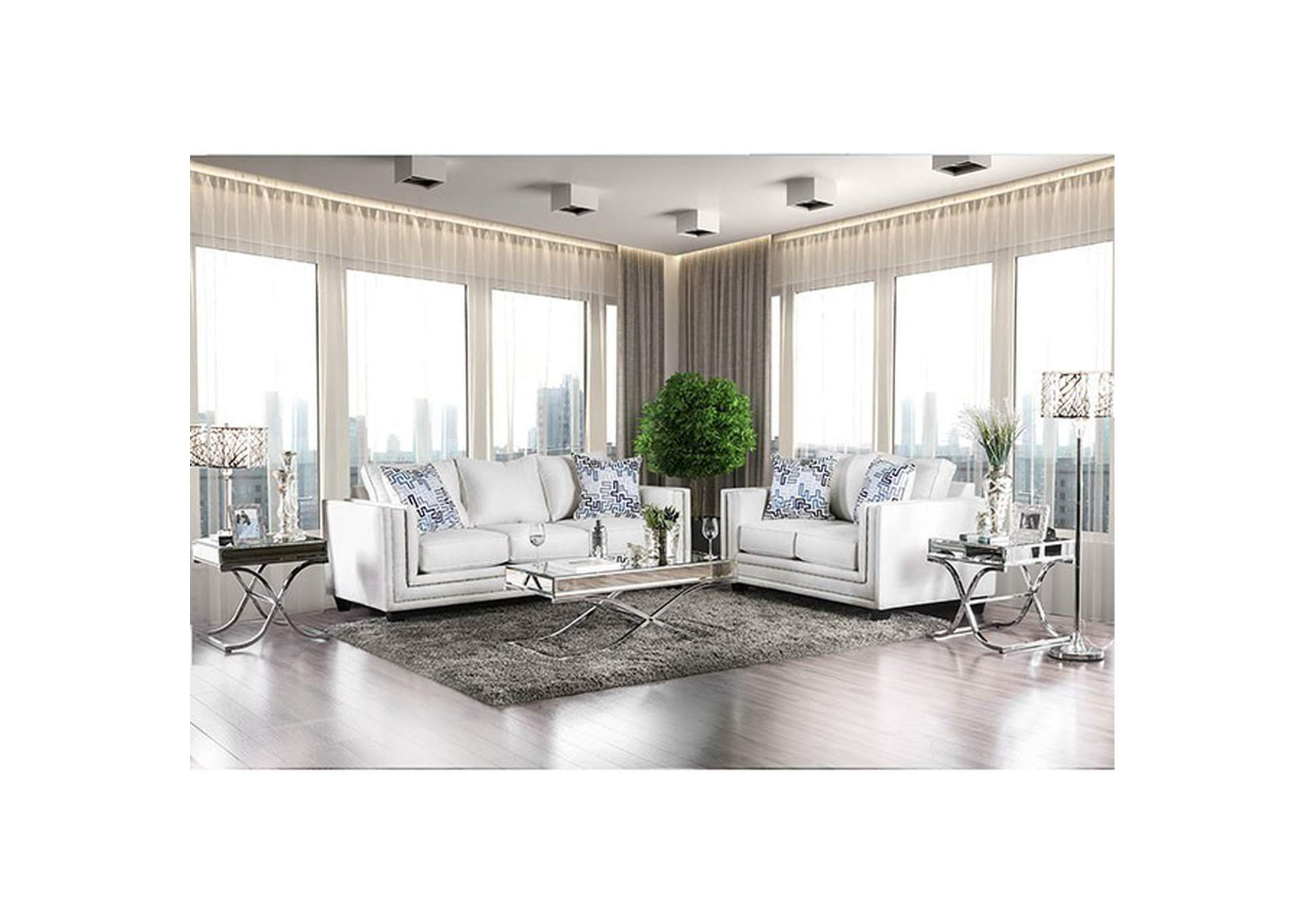 Ilse Off-White Sofa Market Furniture - Paterson, NJ