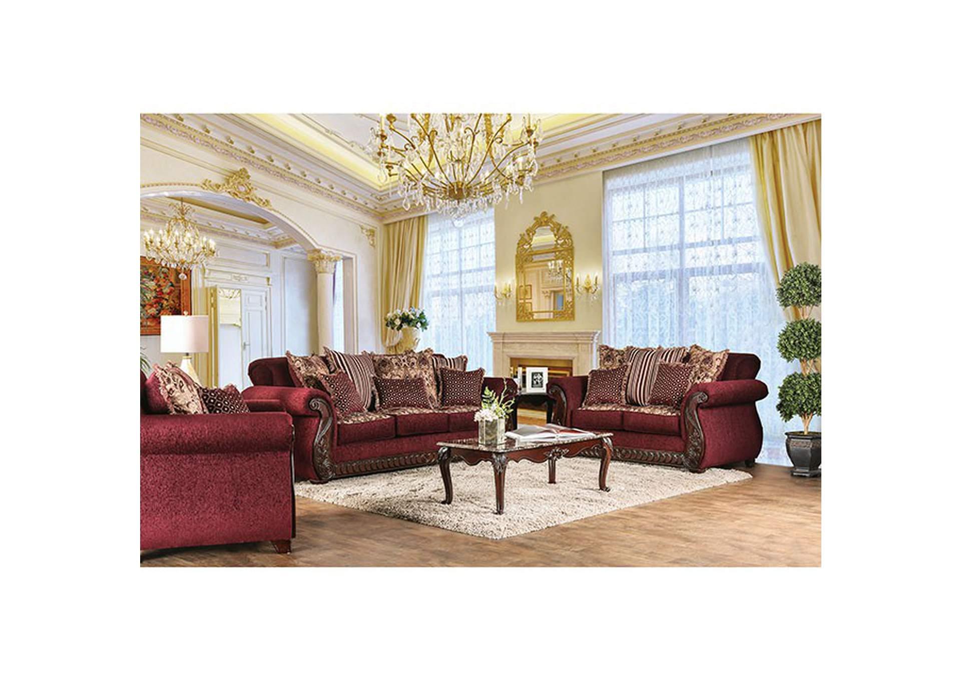home stars furniture tabitha wine sofa and loveseat
