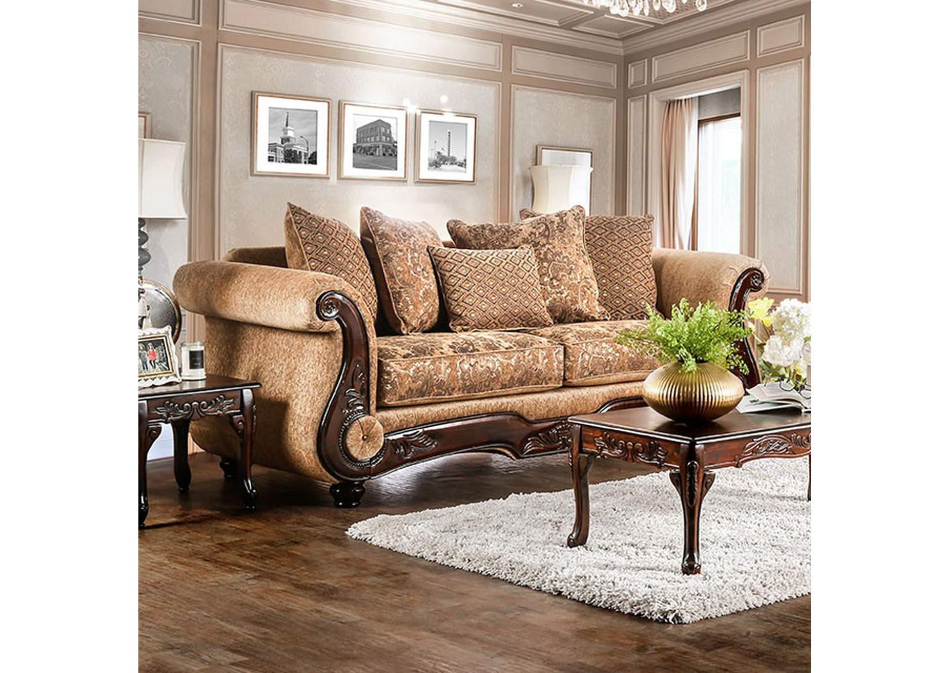 home stars furniture nicanor gold sofa