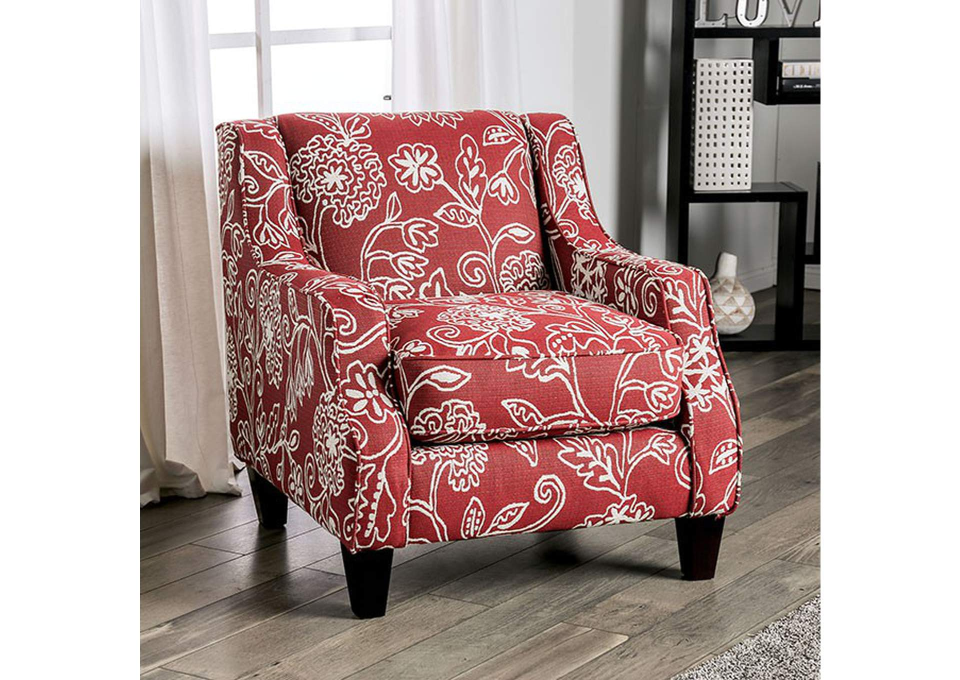 Prime Jordan Home Furniture Ames Red White Floral Chair Gmtry Best Dining Table And Chair Ideas Images Gmtryco