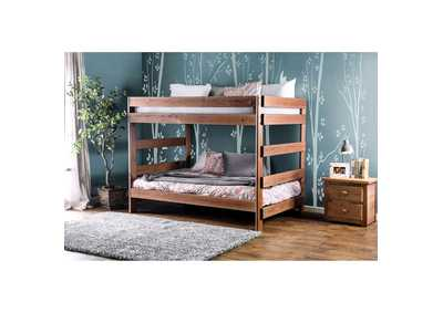 Arlette Oak Full/Full Bunk Bed