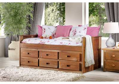 Lia Oak Twin Captain Bed