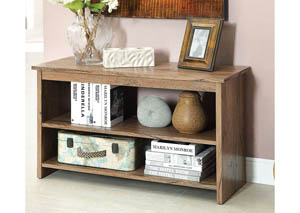Cortz IV Rustic Oak 2 Shelf Side Table