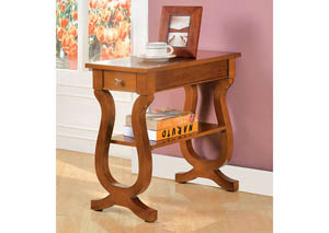 Truro Bell-Shaped Design Side Table w/Drawer & Open Shelf