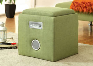 Rythmo Green Bluetooth Speaker Ottoman