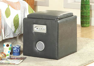 Rythmo Grey Bluetooth Speaker Ottoman