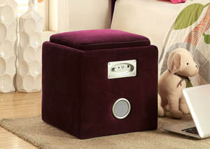 Rythmo Purple Bluetooth Speaker Ottoman