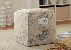 Rythmo White Bluetooth Speaker Ottoman