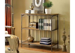 Wylde lll Curved Metal 3-Tier Book Shelf