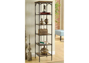 Wylde VI Curved Metal 6-Tier Book Shelf