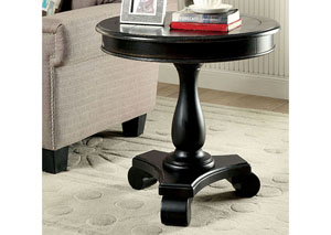 Kalea Black Round Accent Table