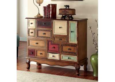 Desree Multi-Colored Panel 9 Drawer Chest