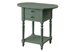 Beadle Teal Chairside Table
