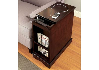 Image for Lilith l Cherry Side Table w/USB Outlet