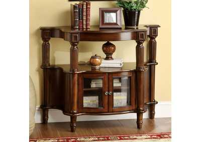 Southampton Side Table w/Framed Glass Doors & Open Shelf