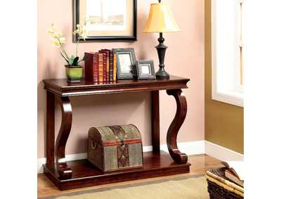 Geelong Cherry Console Table w/S-Shaped Legs & Open Shelf