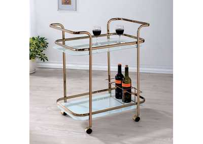 Tiana Champagne Serving Cart