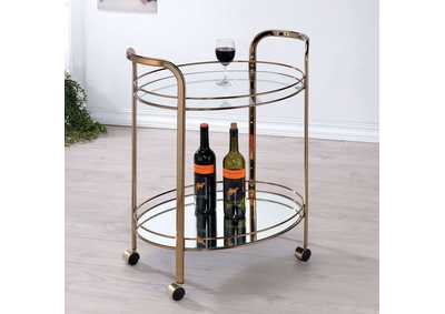 Starla Champagne Serving Cart